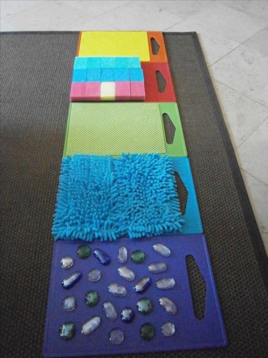 Créer des tapis sensoriels