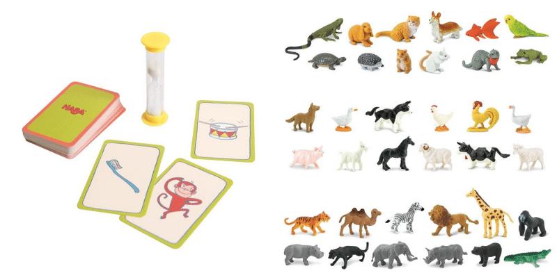 Pantomime et figurines animaux