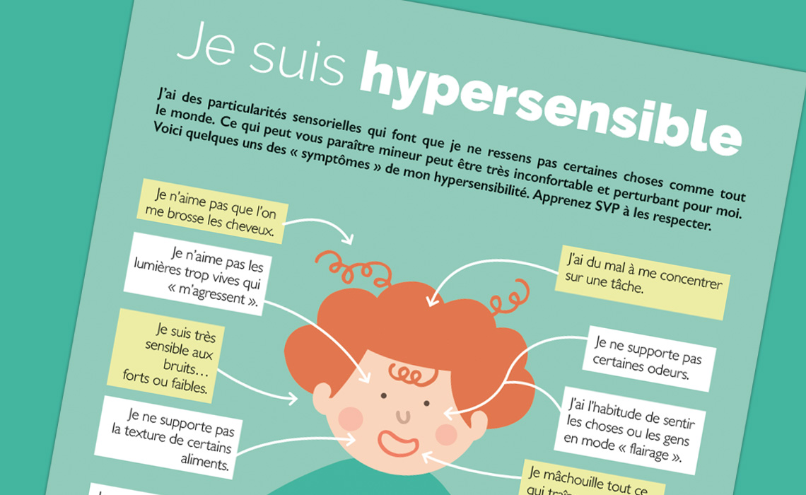 """Infographie """"J'ai des particularités sensorielles"""""""