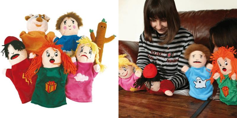 Les marionnettes des émotions pour raconter des histoires.