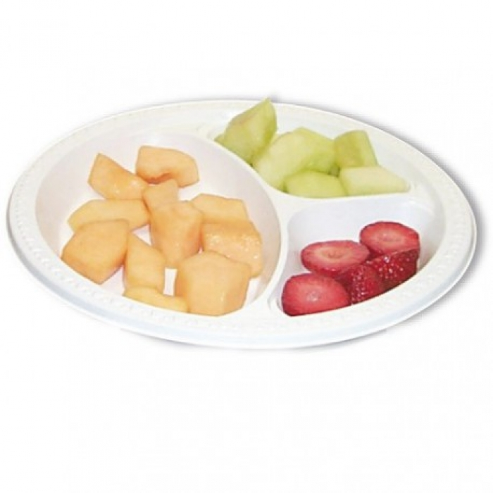 Assiette compartimentée seule