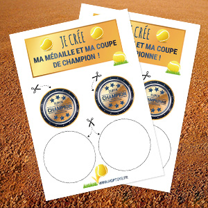 Téléchargez notre fichier pdf pour créer votre médaille et votre coupe !