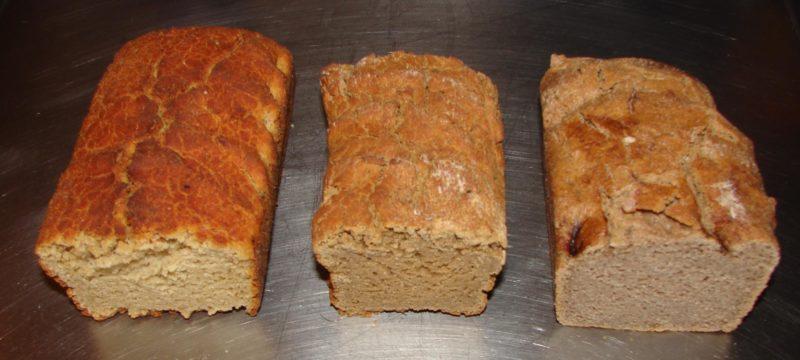 photo de 3 pains sans gluten