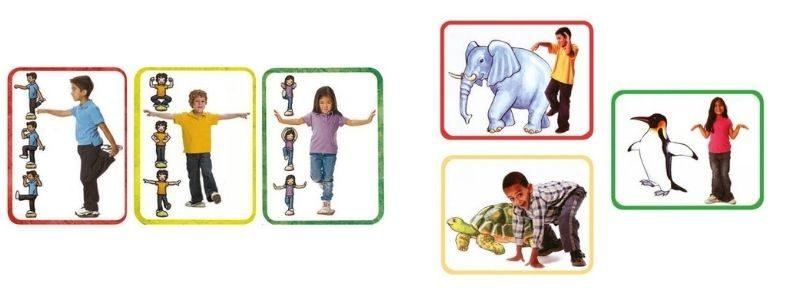 Cartes yoga équilibre et animaux