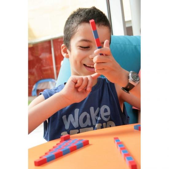 Barres rouges et bleues Montessori