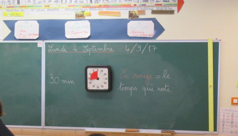 Un Time Timer dans une salle de classe