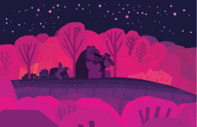 """Illustration issue de """"Bonne nuit tout le monde"""" de Chris Haughton, aux éditions Thierry Magnier"""