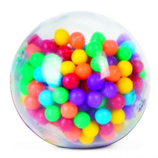 Balle à billes multicolore