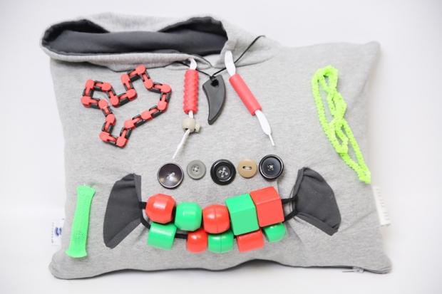 Personnalisez le coussin senseez avec des fidgets