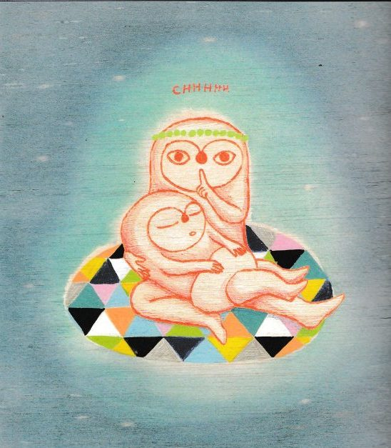 Illustration issue de L'heure bleue de Ghislaine Herbéra, aux éditions Memo.