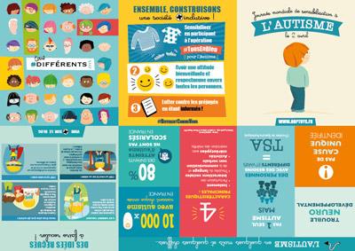 dépliant de sensibilisation à l'autisme