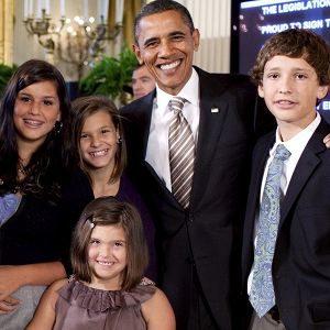 Président Barack Obama avec Rosa et sa famille