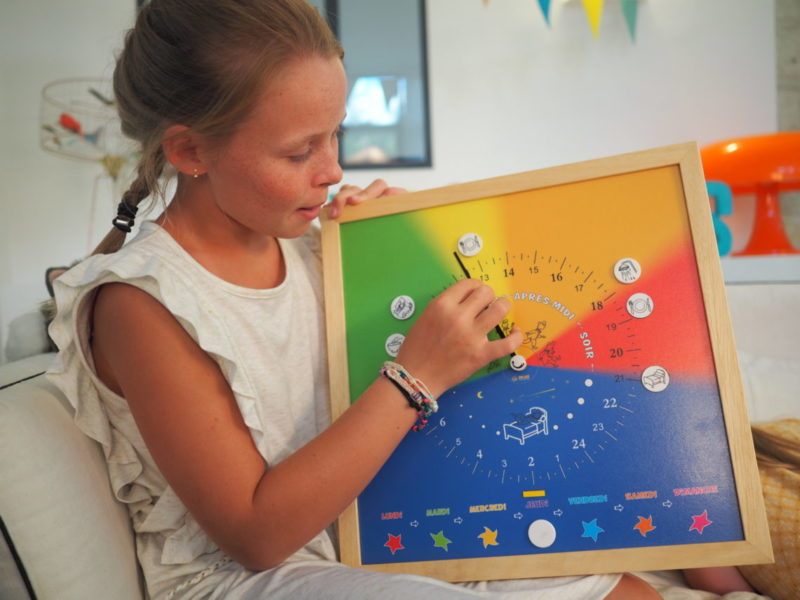 Synopte : une horloge pour enfant