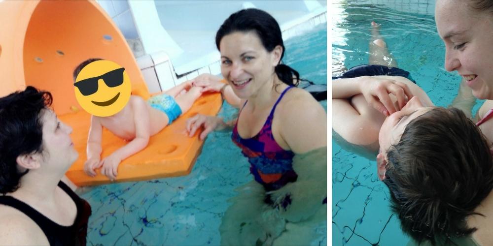 Clément à la piscine