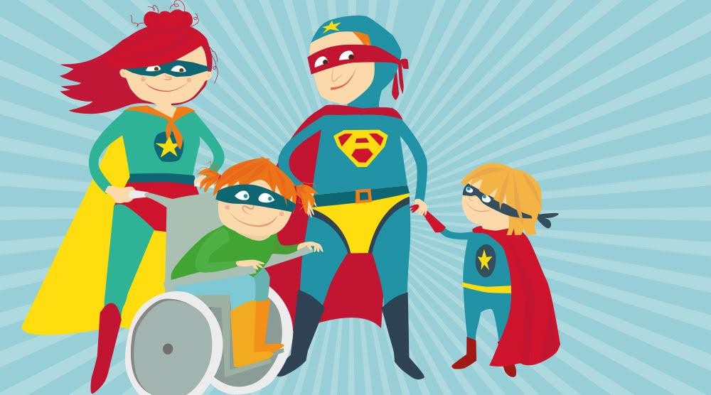 Une famille de super héros
