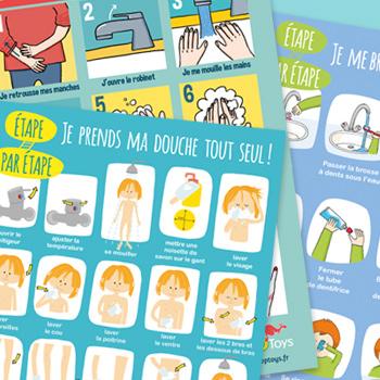 Supports Visuels Pour Lautonomie De La Toilette Blog Hoptoys