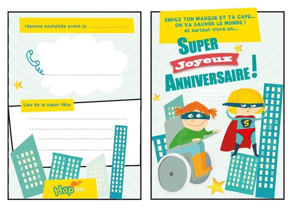 Une Carte D Invitation D Anniversaire Super Heros Blog Hop Toys
