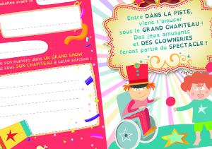 Carte d'anniversaire - Cirque