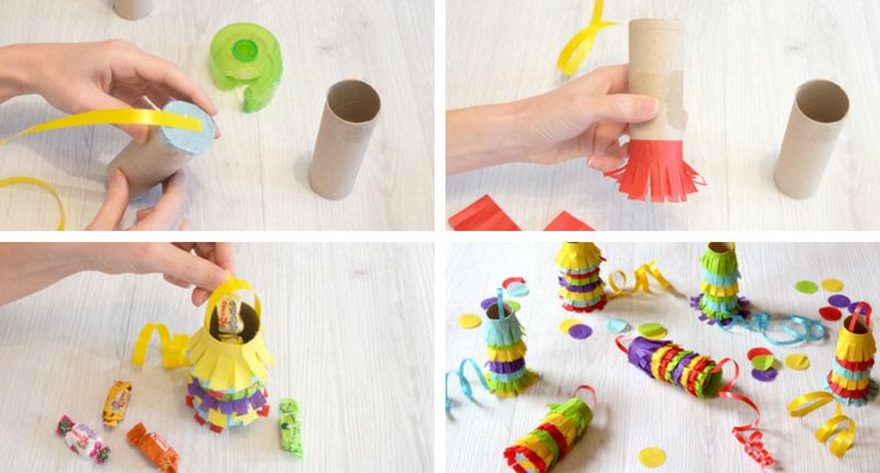 DIY mini piñatas para cumpleaños