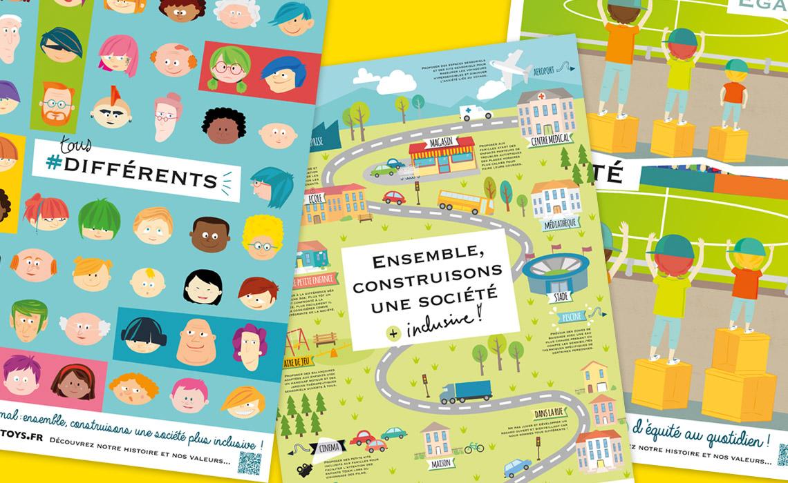"""posters """"société inclusive"""""""