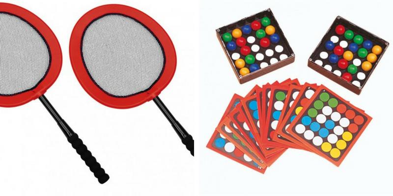 Raquettes badminton et tricky finger