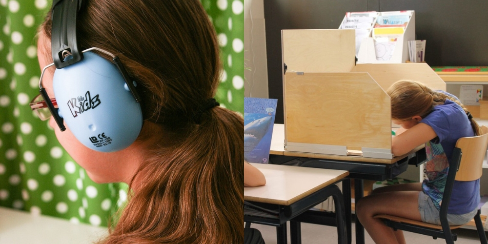casque pour enfant et écran de concentration