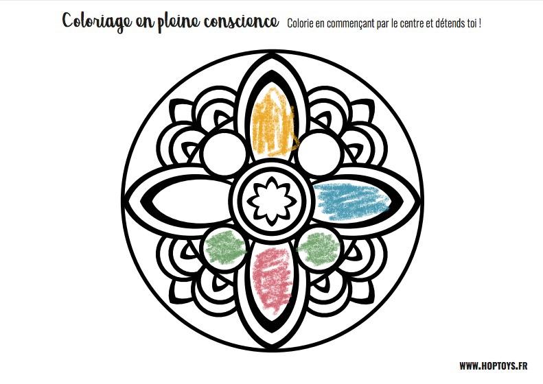 Coloriage en pleine conscience