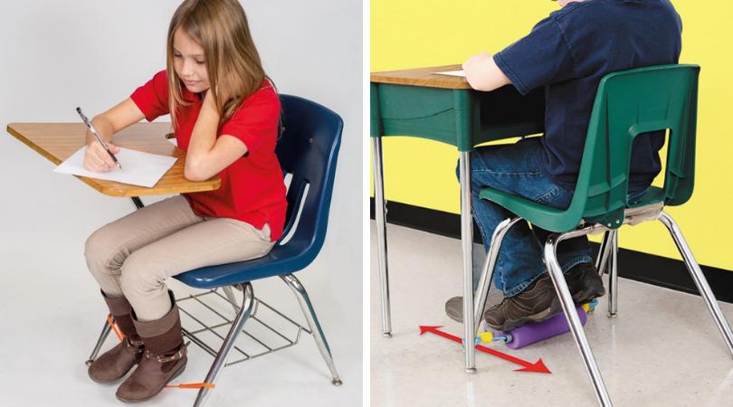 Fidgets pour pieds et rouleaux de mouvement