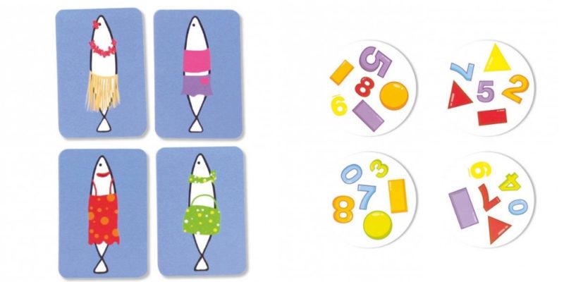 Des jeux pour la discrimination visuelle : Sardines et Dobble