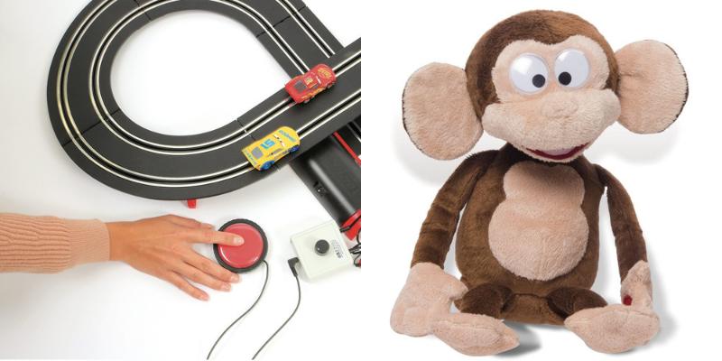 Circuit voiture adapté et Funny monkey