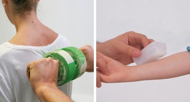 des accessoires pour faire des massages