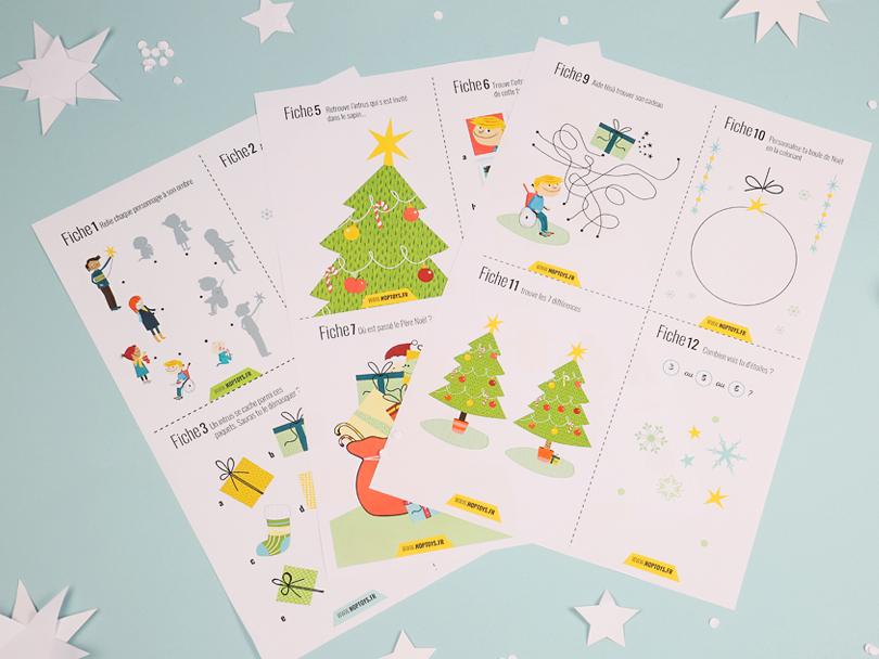 cartes d'activtés de Noël