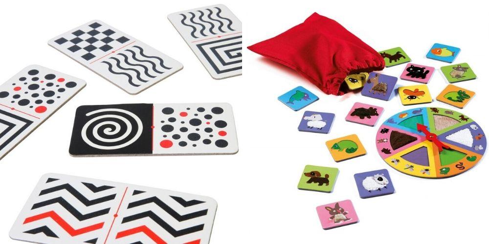 Domino tacto-visuel et tactilo loto