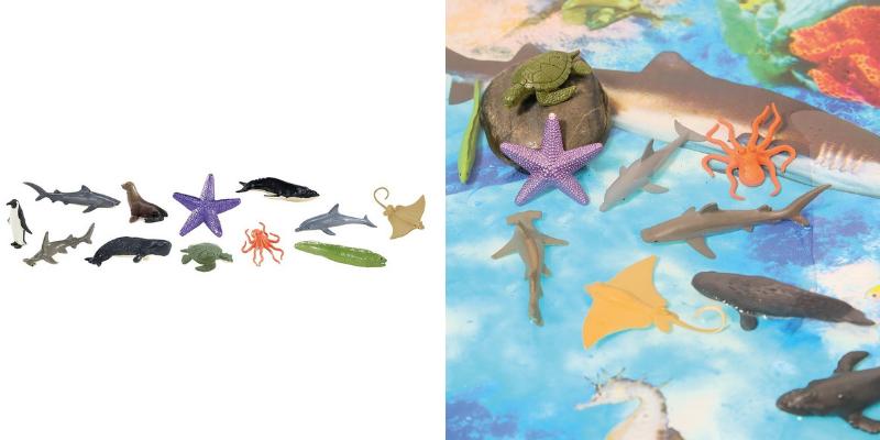 Figurines autour de l'océan
