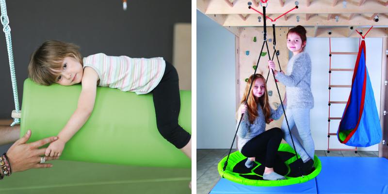 Les balançoires renforcent l'intégration neuro-sensorielle.