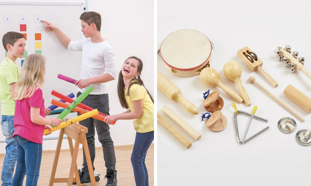 boomwhackers et malette percussion