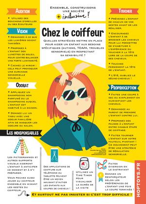 infographie chez le coiffeur