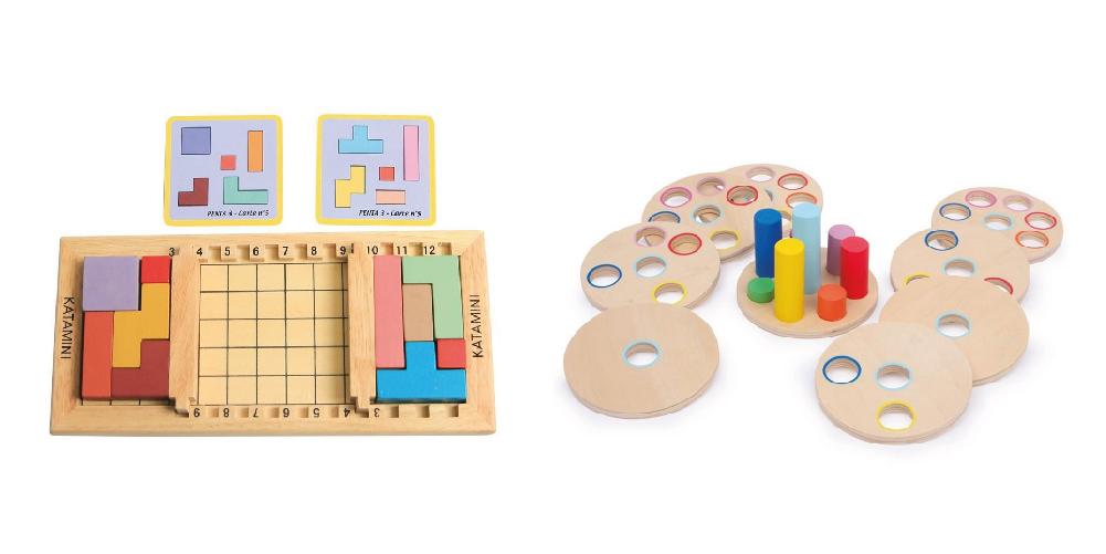 Jeux de logiques en bois pour enfants