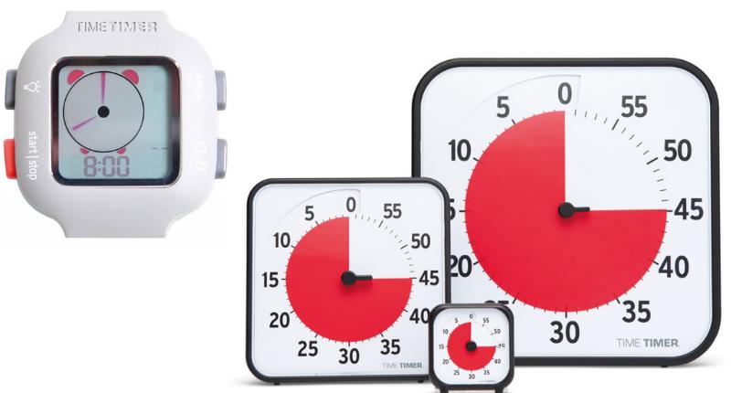 Deux versions du time timer pour se repérer dans le temps