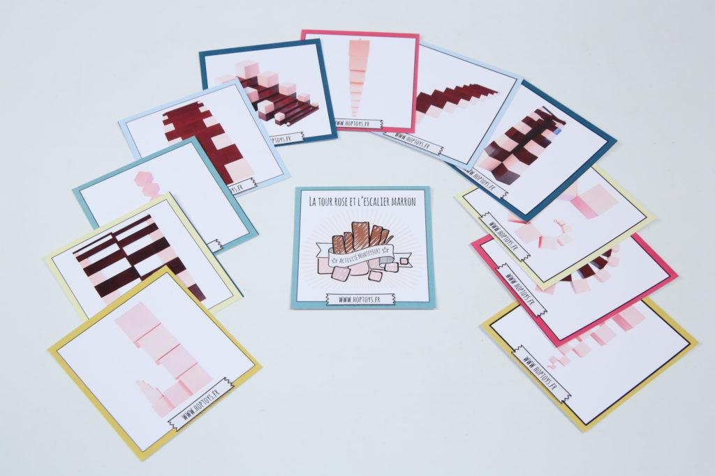 Cartes Montessori à télécharger après achat La Tour Rose