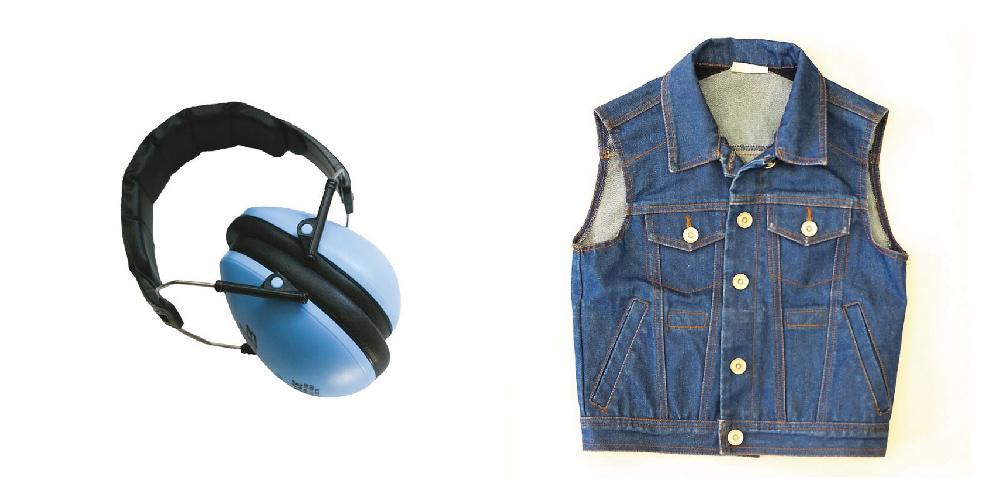 Le casque anti bruit et la veste lestée