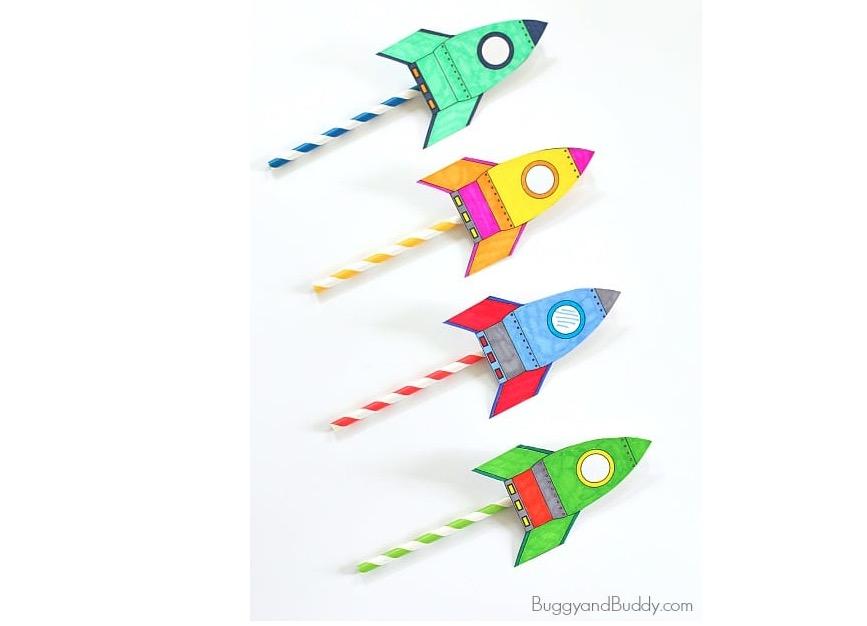 Fabriquer une fusée en papier