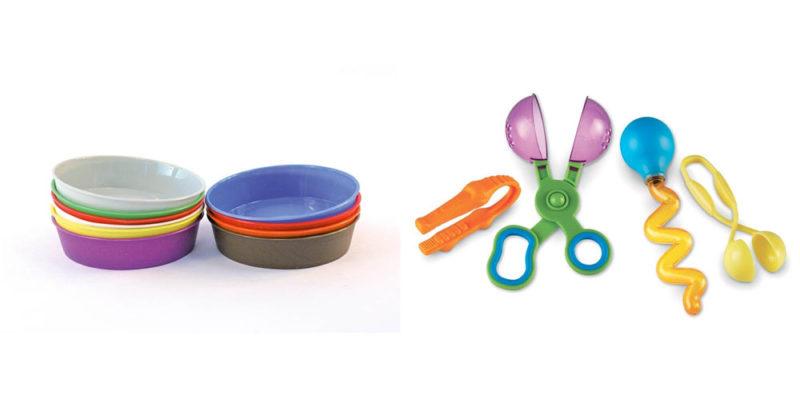 bols à peinture et kit d'outils de motricité fine