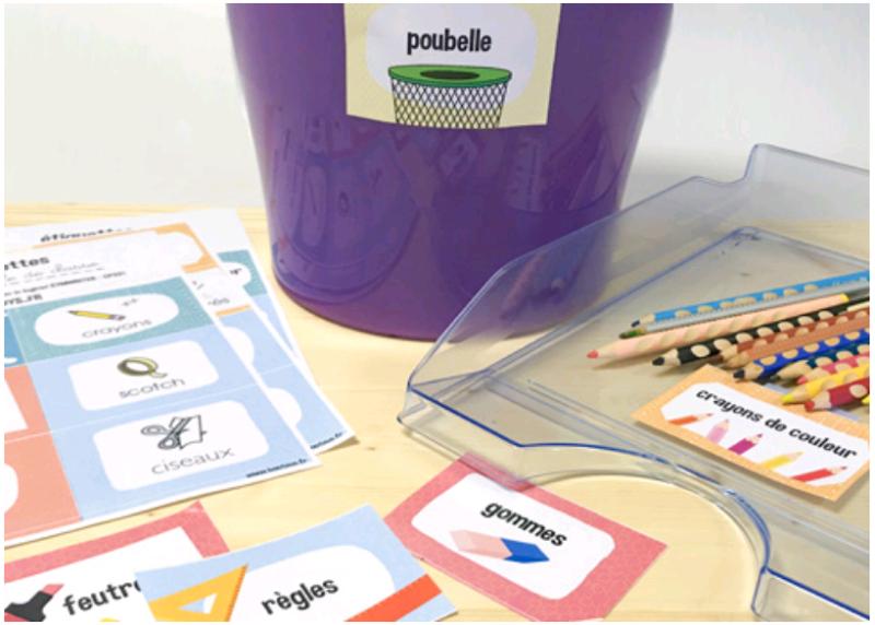 Des étiquettes pour la salle de classe