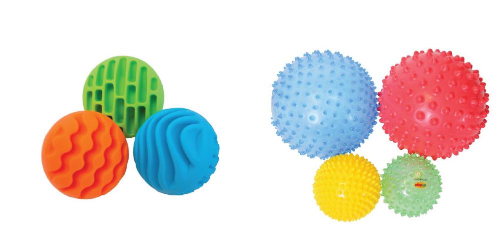 Balles sensory rollers et Lot de 4 balles hérisson