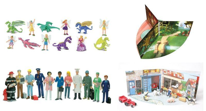 Des figurines pour raconter des histoires.