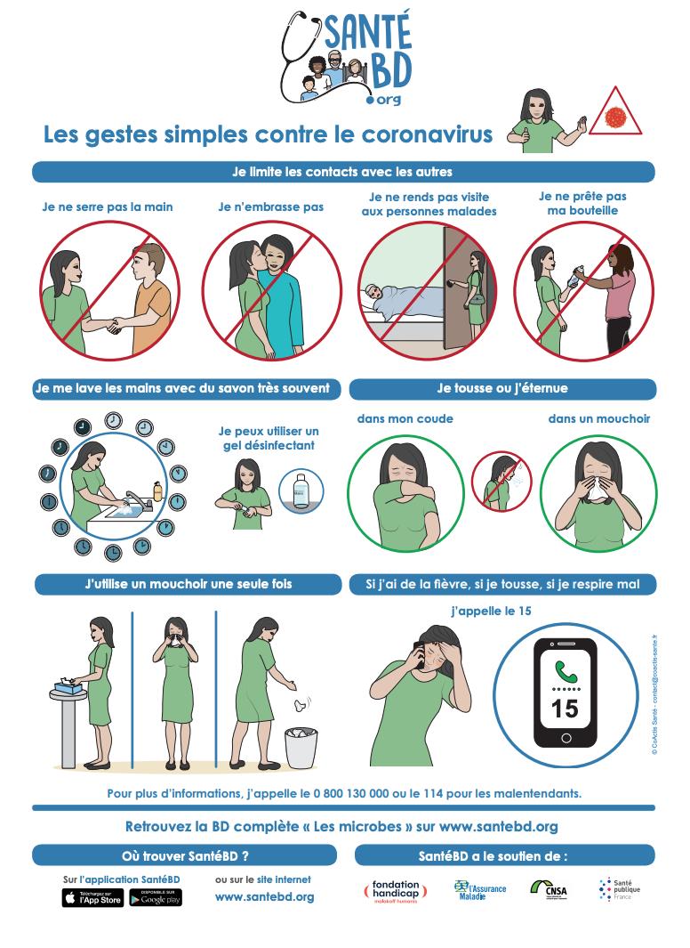 Le coronavirus expliqué aux enfants en BD