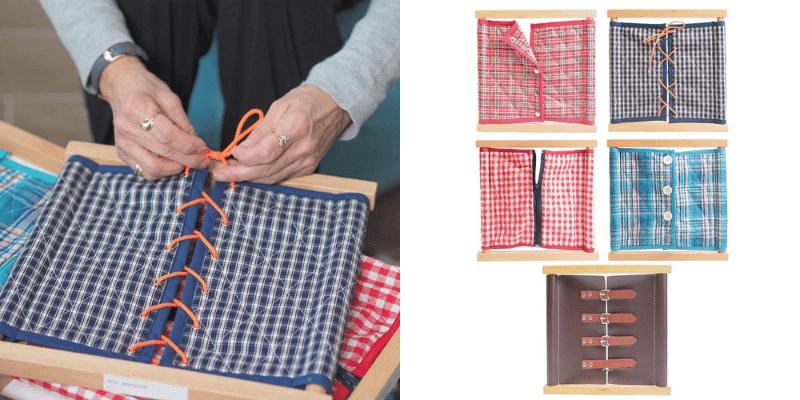 Activité Alzheimer : cadre d habillage montessori