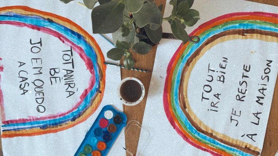 Activité enfant : peinture arcs en ciel