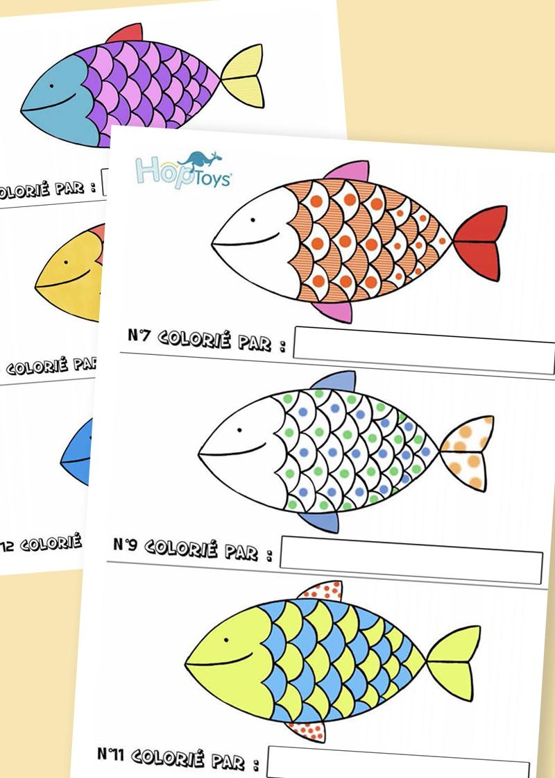 Petit jeu d'énigmes avec des poissons
